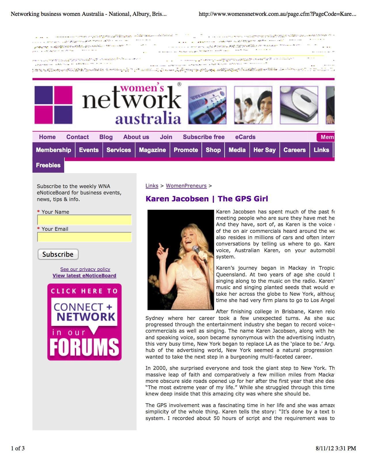 Media personality the gps girl was told she had really made it when she was a clue in the the new york times crossword puzzle karen has been featured in the following media outlets voltagebd Image collections