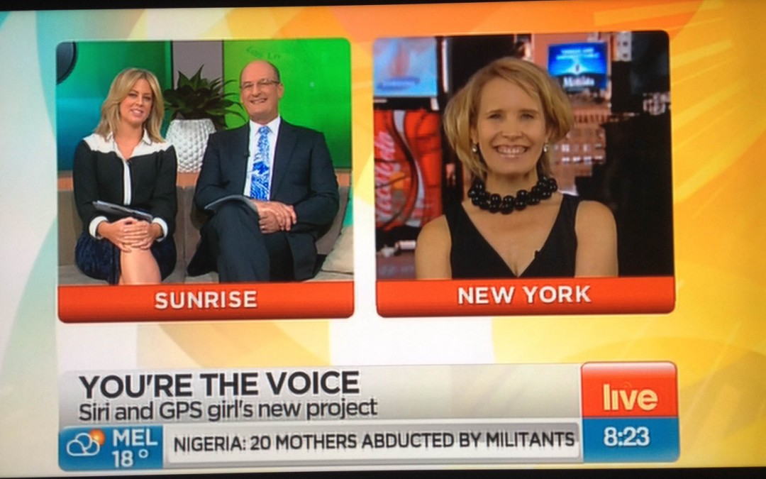 Sunrise TV Show crosses Live to New York to Interview The GPS Girl®